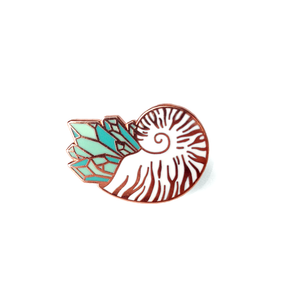 Crystal Nautilus Pin
