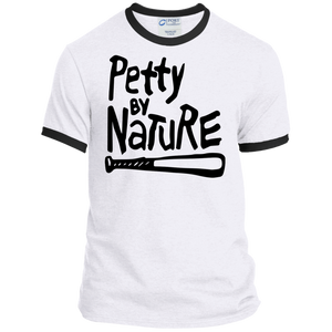 Petty by nature Ringer Tee-T-Shirts-kusheclothing