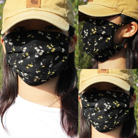 H&W Floral - floral printed cloth face mask-H&W Cami - camouflage printed cloth face mask-kusheclothing