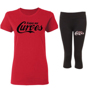 Enjoy my curves Winter Short-Sleeve T-Shirt