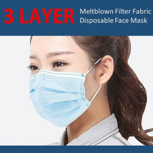 H&M Adult - 12 -3 Layer facial mask-Med 1 - 3 Layer facial mask-kusheclothing