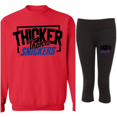 Thicker Than Snicker Winter Pullover Sweatshirt - Set