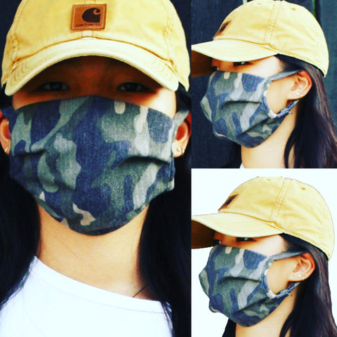 H&W Cami - camouflage printed cloth face mask-H&W Cami - camouflage printed cloth face mask-kusheclothing