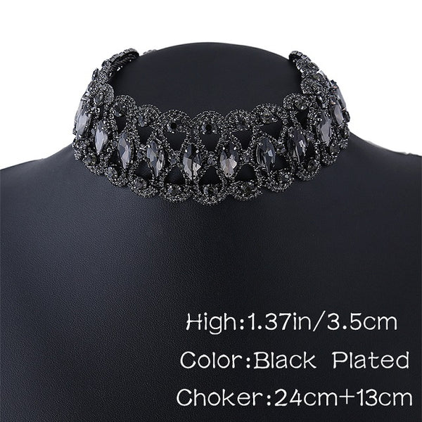 Dazzling- Beautiful Rhinestone Double Choker Necklaces and bodychain