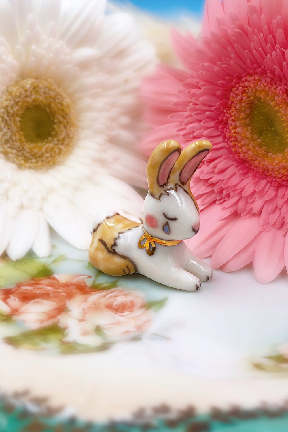 Porcelain Crying Bunny