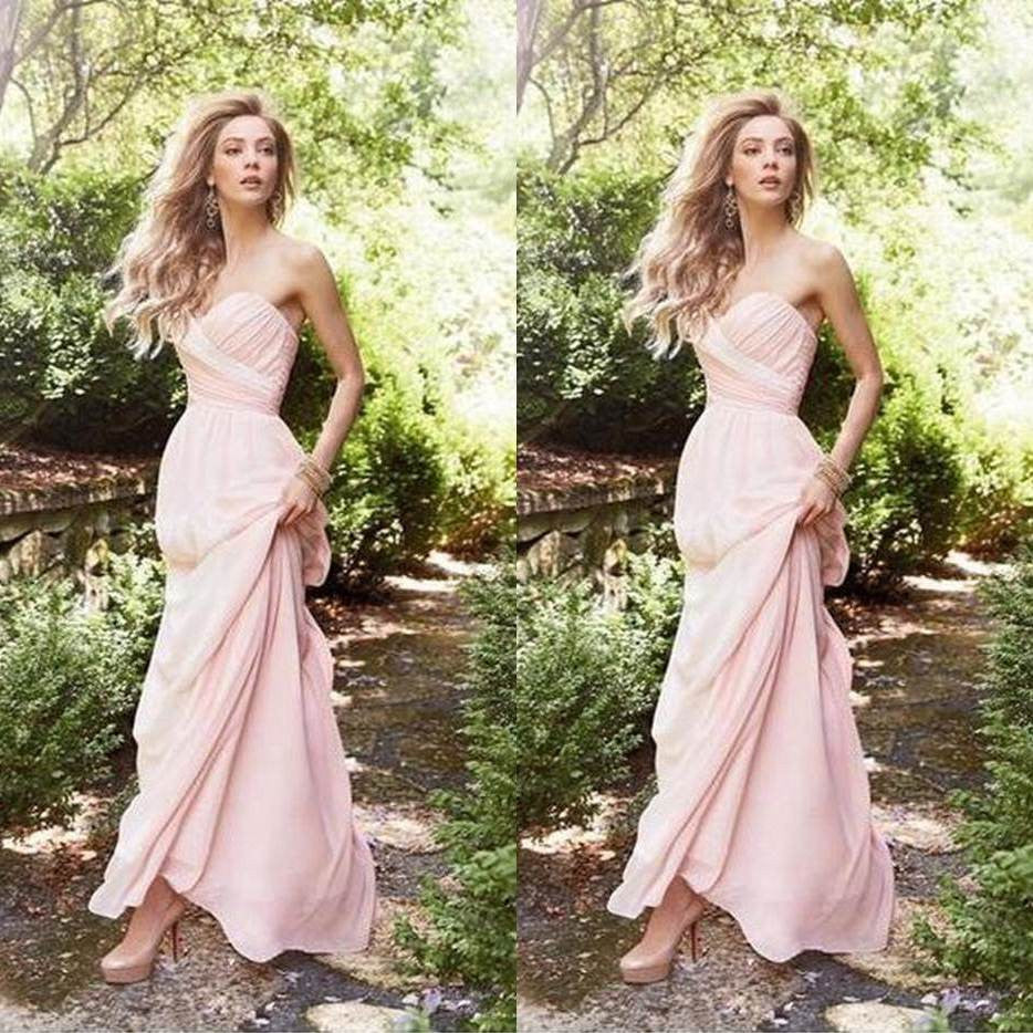 Sweetheart Floor-length A-line Chiffon Prom Dresses 2017