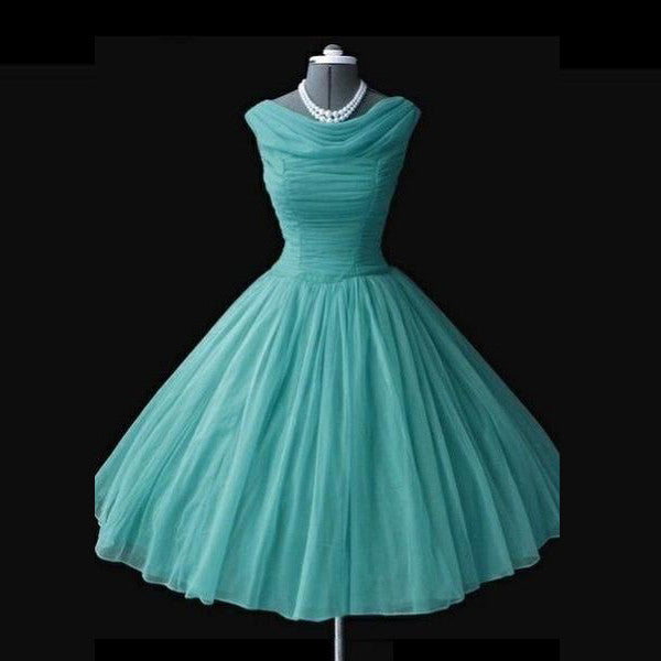 75% OFF!Long Princess Bateau Chiffon Green Prom Dresses 2017