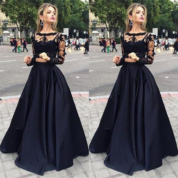 75% OFF!Illusion A-line Taffeta Prom Dresses 2017