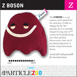 Z boson subatomic particle plush toy
