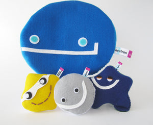 Big zip-up reversible beta-decay subatomic particle plush