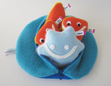 Big zip-up neutron subatomic particle plush toy
