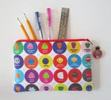 subatomic particle zipper pouch pencil case