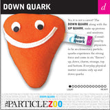 down quark subatomic particle plush toy