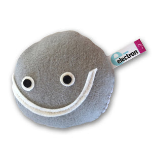 electron subatomic particle plush toy