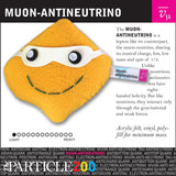 muon-antineutrino subatomic particle plush toy