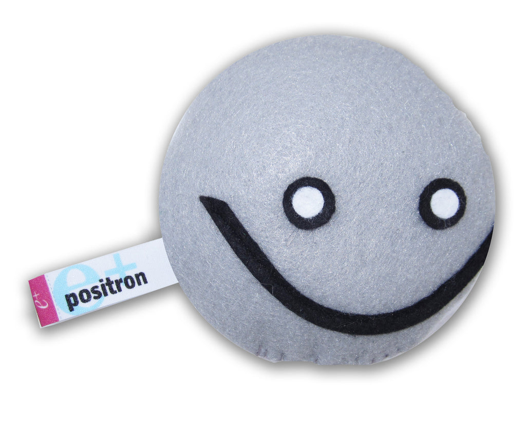 positron subatomic particle plush toy