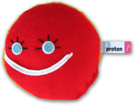 proton subatomic particle plush toy