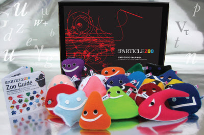 Universe in a box 36-piece set of subatomic particle plush toys