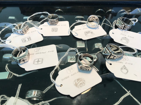 Selection of silver rings