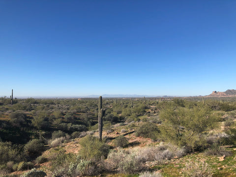 Desert horizon view from Superstition Mountain, Arizona