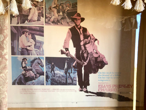 Charro movie poster of Elvis Presley