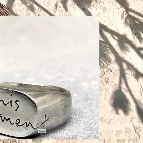 This Moment silver signet ring