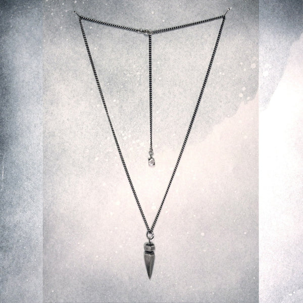 ancient-spike + faceted bead ~ pendant combination