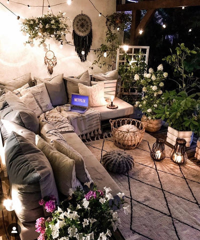 fall decor outdoor furniture cosy