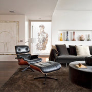 EAMES INSPIRED LOUNGE CHAIR & OTTOMAN