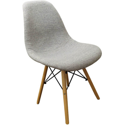 Mid-Century Upholstered Grey Chair