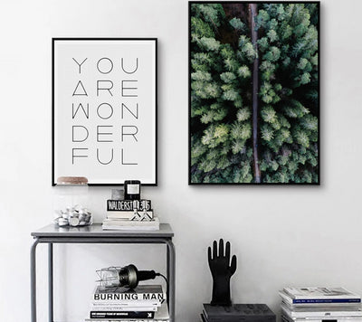 Scandinavian Forest And Quote Canvas