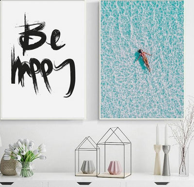 Be Happy x Ocean Breeze Canvas Art