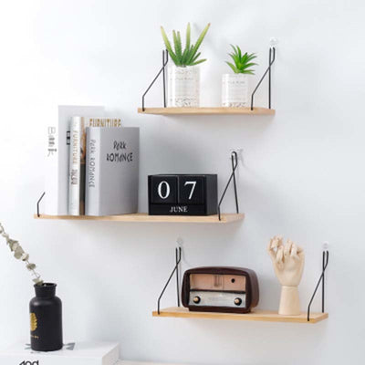 Stylish Wooden and Metal Shelf