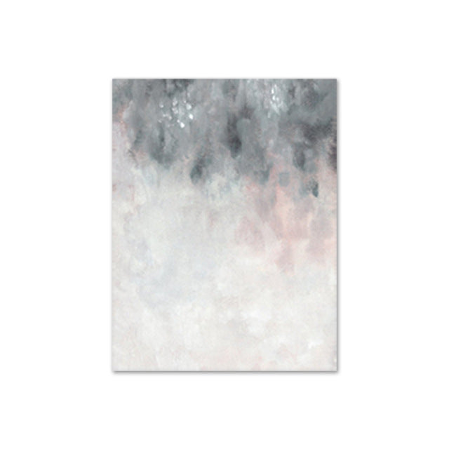 Pastel Pink and Grey Abstract Art
