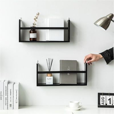 Nordic Style Wooden Storage Rack Shelves Bedroom TV Wall Hanging Storage Holder Flower Pot Book Shelf Home Decor Room Organizer