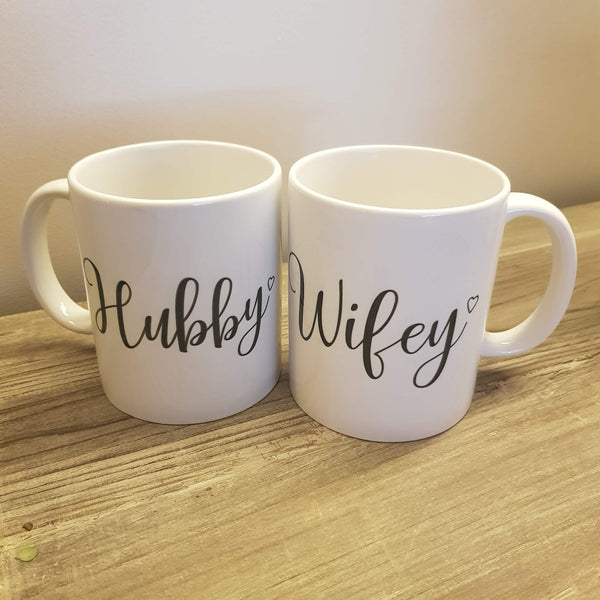 Hubby & Wifey Mugs - The Little Bundle Shop