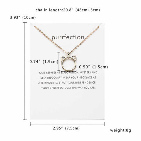 10 Styles Birthday Gift Pendant Necklace Cat Ear Angel Wings Bird Animal Circle Geometric Charm Clavicle Chains Collar
