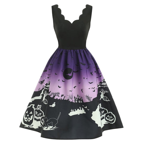 fdd8ad9d5835c Animal Christmas Party Dresses For Women A Line Vintage 2018 ...