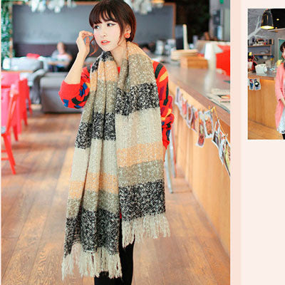 New Wrap Scarf Wool Blends Soft Multicolor Warm Scarves Long Large Shawl Tassels Women Fashion Accessories