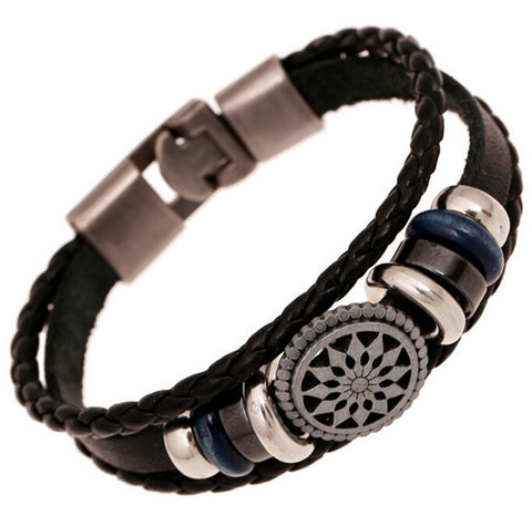 Newest Punk Style Women/Men Leather Bracelet Wristband Harajuku Vintage Fashion Jewelry Bracelet