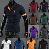 Special Supply 10 Color Freeshipping  Full Cotton  Fashion New Fitting Short Sleeved T-shirt