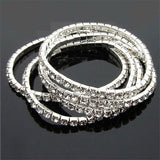 Hot Selling Elegant Full Drill Rhinestone Stretch Bracelet Fashion Jewelry Wholesale