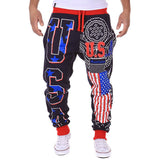 New Arrival Casual Men's leisure pants USA letters design Loose Male Long pants Fashion High Quality trousers 3 Colors