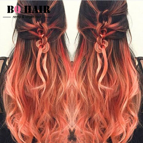 BQHAIR 8A Remy 3 Bundles Ombre Hair #1b Rose Gold Virgin Brazilian Hair Brazilian Body Wave Pelucas Beauty Aliexpress UK