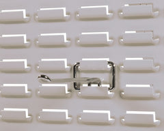 BLW  Chrome Wire Hooks 150mm for Louvred Panels. Pack of 12