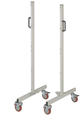 BRM Mobile Double Sided Louvred Rack Frames only 1400mm High x 700mm Deep