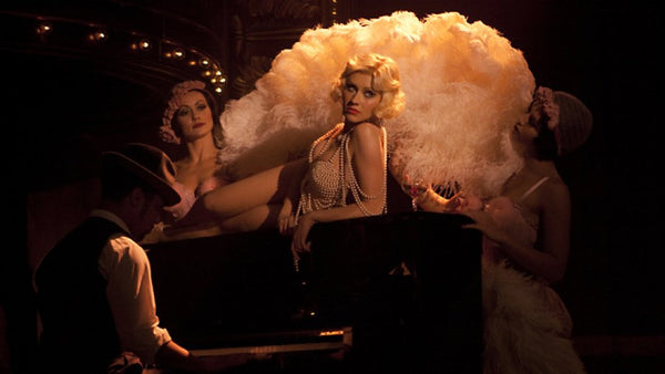 "Christina Aguilera in the movie ""Burlesque"""