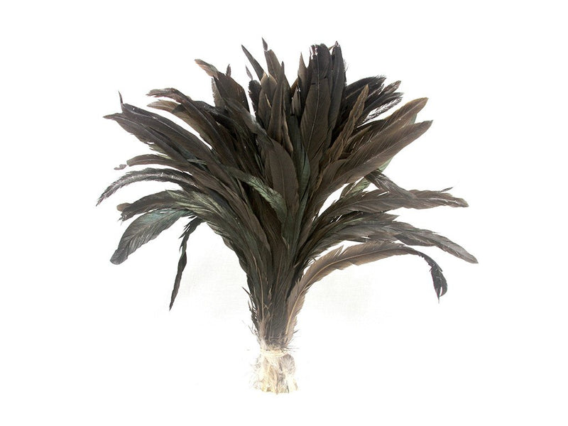 Feather Fringe | Coque Black Iridescent Natural Strung - FancyFeather.com