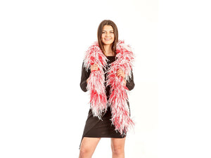 Ostrich With Marabou Two Tone Boa - FancyFeather.com