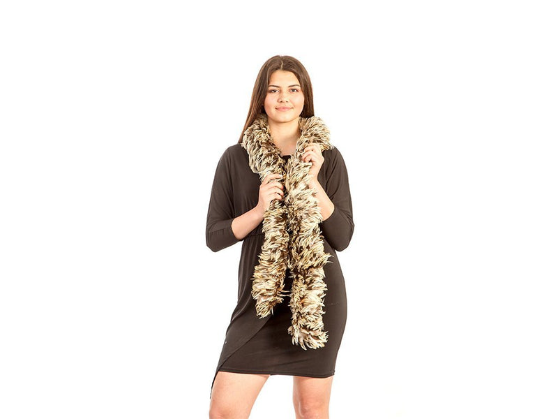 Feather Boas | Rooster Coque Badger Hackle - FancyFeather.com